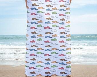 Tired Cats Multicolor Towel - Cat Homeware Beach Towel