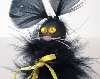 Lucky Black Cat. Gift for Cat Lover. Gift for Her. Black Cat Lover. Birthday Gift. Good Luck Gift. Just Because Gift. Black Cat Gift Idea.
