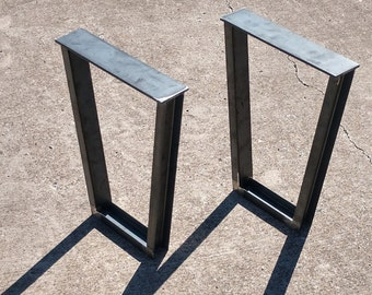 Steel Trapezoid Legs, Coffee Table Metal Legs, Table Legs, Industrial Legs,  Table