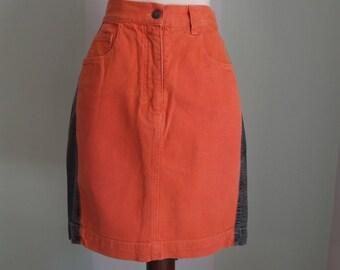 Orange Moschino Jeans skirt