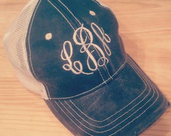 Ladies Monogrammed Ball cap