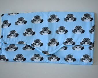 pug changing mat personalised baby mat newborn gift baby accessory baby shower gift present changing bag