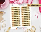 Walking Dead TV Show / Series Planner Stickers for Erin Condren, Happy Planner, Kikki K, Travelers Notebook, Bujo, Filofax etc, Television