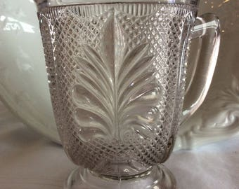 Antique 1902 Athenian pattern creamer Dominion glass Canadian EAPG