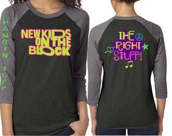 Glitter Baseball New Kids on the Block Shirt Customized NKOTB  Shirt