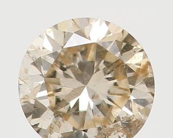 3.00 MM 0.10 Ct Natural Loose Diamond Cut Round Shape Light Yellow Color SI2 Clarity N5744