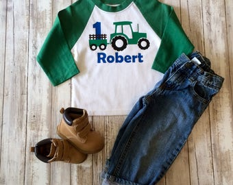 Tractor Theme Birthday Shirt, Personalized Tractor Themed Birthday Shirt, Farm Theme Birthday Shirt, Boys Personalized Birthday Shirt
