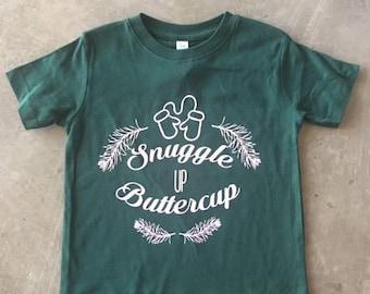 Snuggle Up Buttercup Girls Winter Shirt