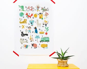 ABC poster ENGLISH (50 x 70 cm)