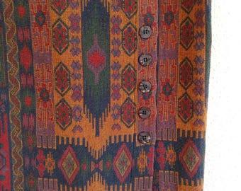 Vintage Aztec Curtain Skirt