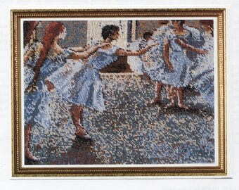 The Fine Arts Heritage Society ** Dancers Rehearsing by Edgar Degas ** charted pattern for Cross Stitch or Needlepoint