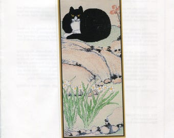 The Fine Arts Heritage Society ** Seated Cat by Chu Ling 17th C. Chinese ** charted pattern for Cross Stitch or Needlepoint