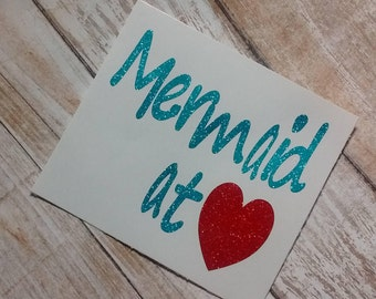 Mermaid Decal/Sea Life Decal/Vinyl Decal/Decal/Monogram/Girl Decals/Yeti Cup Decal/Ocean Life Decal/The Little Mermaid Decal