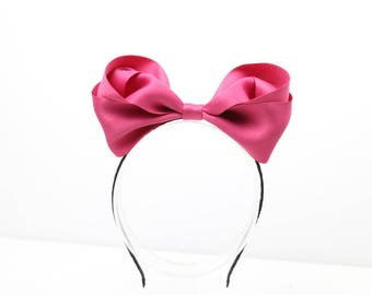 Mickey Mouse headband, headbands for girls, big hair bow, headband bows