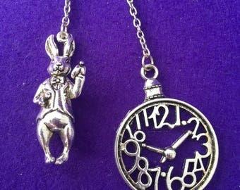 Alice in Wonderland keychains / White Rabbit keychain / Alice in Wonderland bag charms