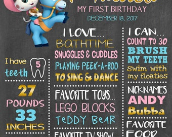 Callie Birthday Chalkboard Poster - Wall Art design - Birthday Party Poster Sign - Any Age