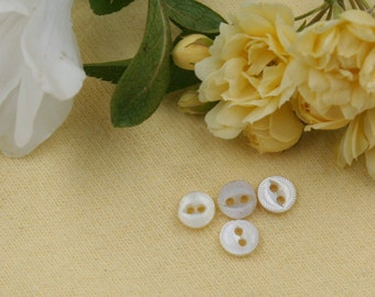 Tiny Two-Hole Mother-of-Pearl Buttons