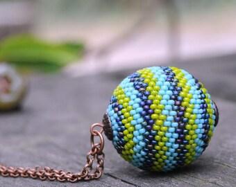 Seed bead jewelry, beaded jewelry, seed bead necklace, bead jewelry, beadwork necklace, beadwork pendant, handwoven bead, bead pendant