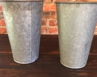 Galvanized Metal Syrup Buckets