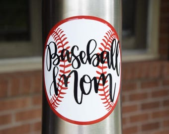 Baseball Mom Sticker Baseball Mom Decal Baseball Mom Base Ball Mom Base Ball Sticker Baseball Decal Baseball Sticker