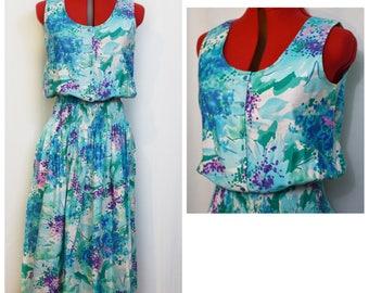 Malia Blue/Purple Watercolor Dress