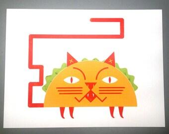 Taco Cat/Digital Art Print