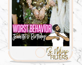 BIRTHDAY PARTY SNAPCHAT Geofilter, Neon Snapchat Geofilter,Drake,Birthday Filter,Turn my Birthday into a Lifestyle,It's Lit,Custom Snapchat