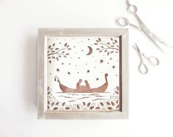 Tangled Papercut / Wall Art / Nursery Wall Art / Disney / Disney Art / Baby Gift / Papercut Art / Nursery Decor / Disney Princess