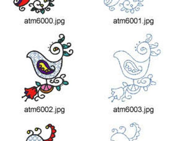 Jacobean-Birds ( 14 Machine Embroidery Designs from ATW ) XYZ17F