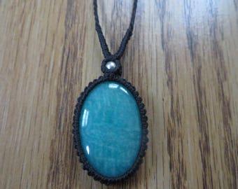Peruvian Amazonite Macrame Necklace