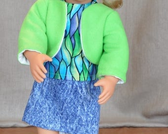 "3 piece outfit for 18"" dolls  including American Girl"