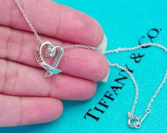 LIKE NEW!! Tiffany & Co. Paloma Picasso Sterling Silver Love Heart Necklace