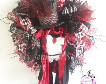 Dracula Wreath, Halloween Wreath, Vampire Wreath