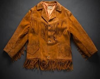 1960s Suede Western Fringe Jacket