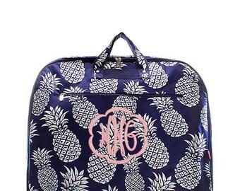 Monogrammed Garment Bag, personalize travel bag, Carry on bag
