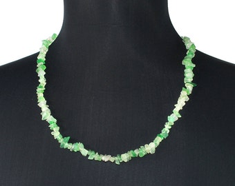 Green Agate Necklace, Handmade Green Agate Necklace, Crystals Green Agate Necklace, Gemstone Green Agate Necklace, Love Necklace, Gift