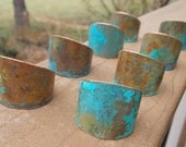 8 patina copper napkin rings, wedding gift, pottery look, gift for couple, housewarming, copper painted napkin rings, anniversary