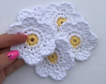 PATTERN - Daisy Face Scrubby - Crochet Pattern - Cotton - Eco Friendly - Easy