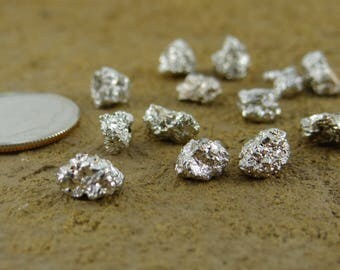 Rough Pyrite | Center Drilled Nugget Beads | Sets of 13