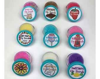 Set of 10 Edible Lip Scrubs | Party Favors, Gift Sets, Discounted Set