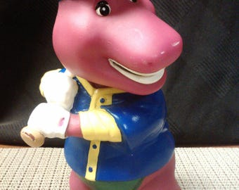 Baseball Barney (#1) coin bank by lyons made in China in 1982