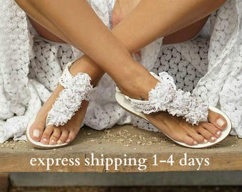 "Wedding sandals/ romantic sandals/ bridal sandals/ flower sandals/ leather sandals/ Lace sandals/ Handmade greek leather sandals/""SILVIA 2"""