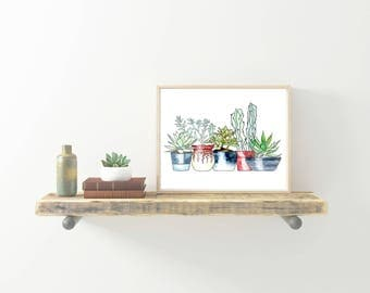 Succulent and Cactus Planter Printable