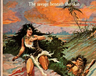 Edgar Rice Burroughs The Cave Girl Ace Paperback Science Fiction Book 1960's Roy Krenkel Cover