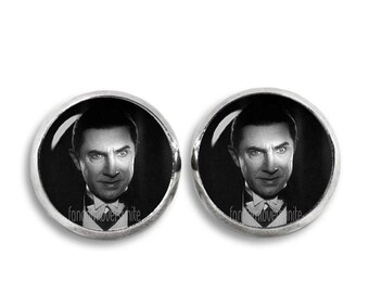 Bela Lugosi Earrings Dracula Stud Earrings Vampire 12mm Earrings Fandom Jewelry Goth