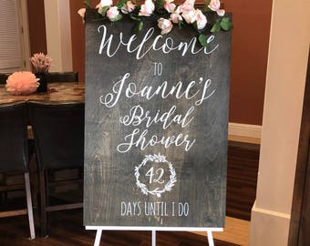 Bridal Shower Welcome Sign - Rustic Wood Wedding Signs - Custom Wedding Signs - Woodsy Wedding - Bridal Shower Decor