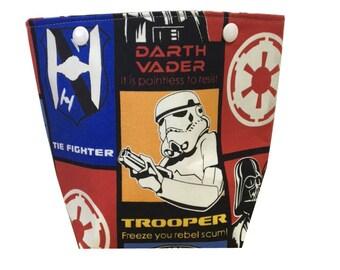Star Wars Fabric Yarn Basket | Ball Sack | Yarn Cake Basket | Project Bag | Snap Closure Bag