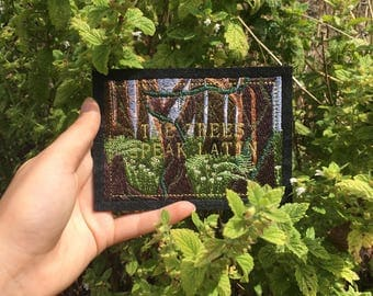"""Embroidered Patch: The Trees Speak Latin, """"Arbores Loqui Latine"""", Cabeswater, The Raven Cycle"""