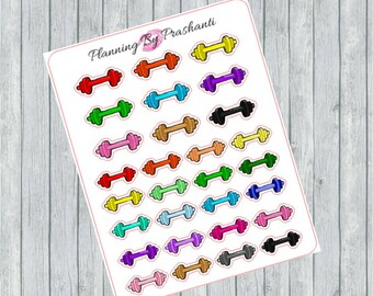 Workout Dumbbell Weights Fitness Planner Stickers - For Erin Condren Life Planner or Happy Planner