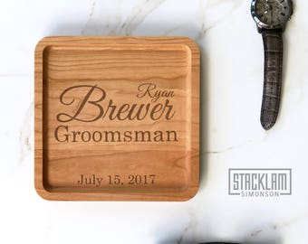 Groomsmen Gift, Personalized Valet Tray, Groomsmen Proposal idea, Will you be my Groomsmen, Unique Wedding Gift for Couple Gift Box included